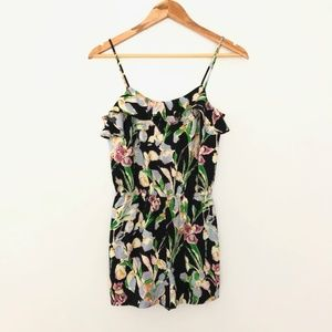 TOPSHOP Size 4 Sleeveless Floral Romper